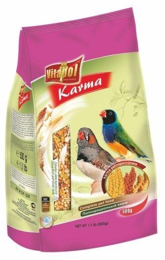 VITAPOL - Pokarm pełnoporcjowy dla zeberki i ptaków egzotycznych w foli 500g