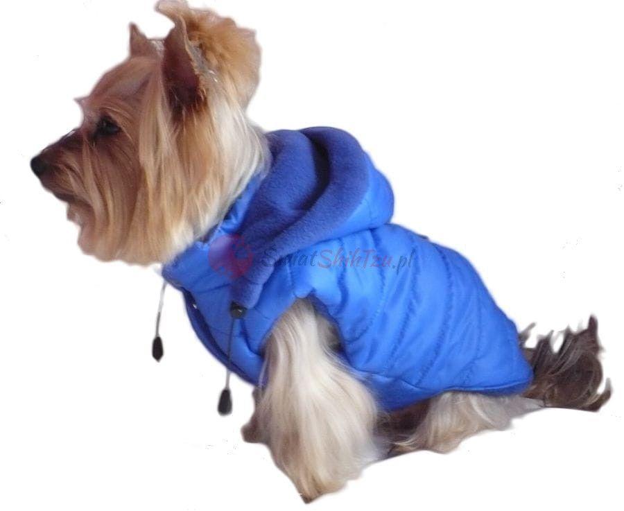 Ręcznie szyta kurtka sportowa niebieska