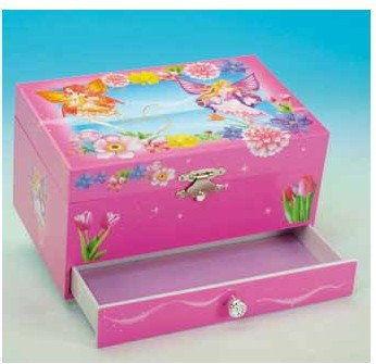 .Pudełko na biżuterię prostokątne wróżka kwiatowa.