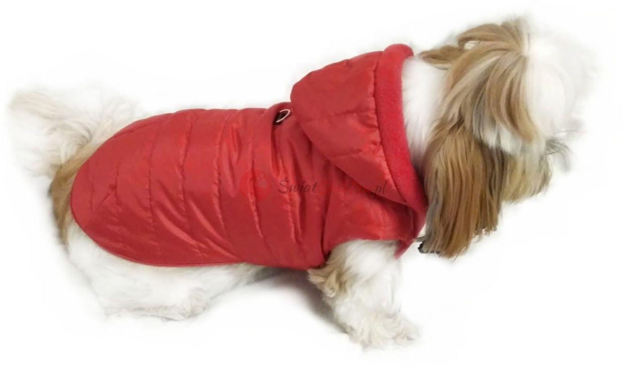 Ręcznie szyta kurtka sportowa czerwona