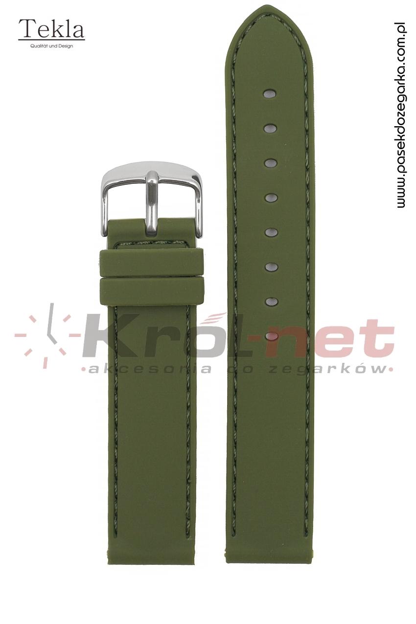 Pasek RP054ZIE/20 - zielony, silikonowy