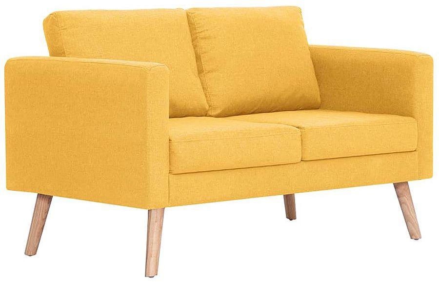 Dwuosobowa żółta kanapa - Lavinia 2X