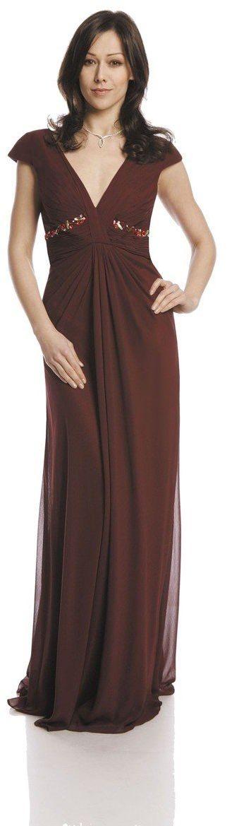 FSU729 Suknie wizytowe Sukienka BURGUND