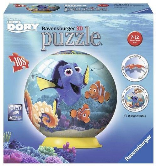 Puzzle Ravensburger 3D 108 - Gdzie jest Dory, Finding Dory