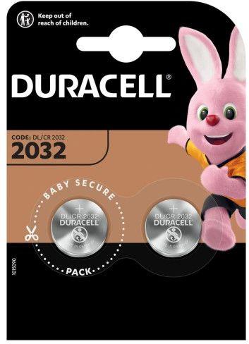 2x bateria litowa mini Duracell CR2032