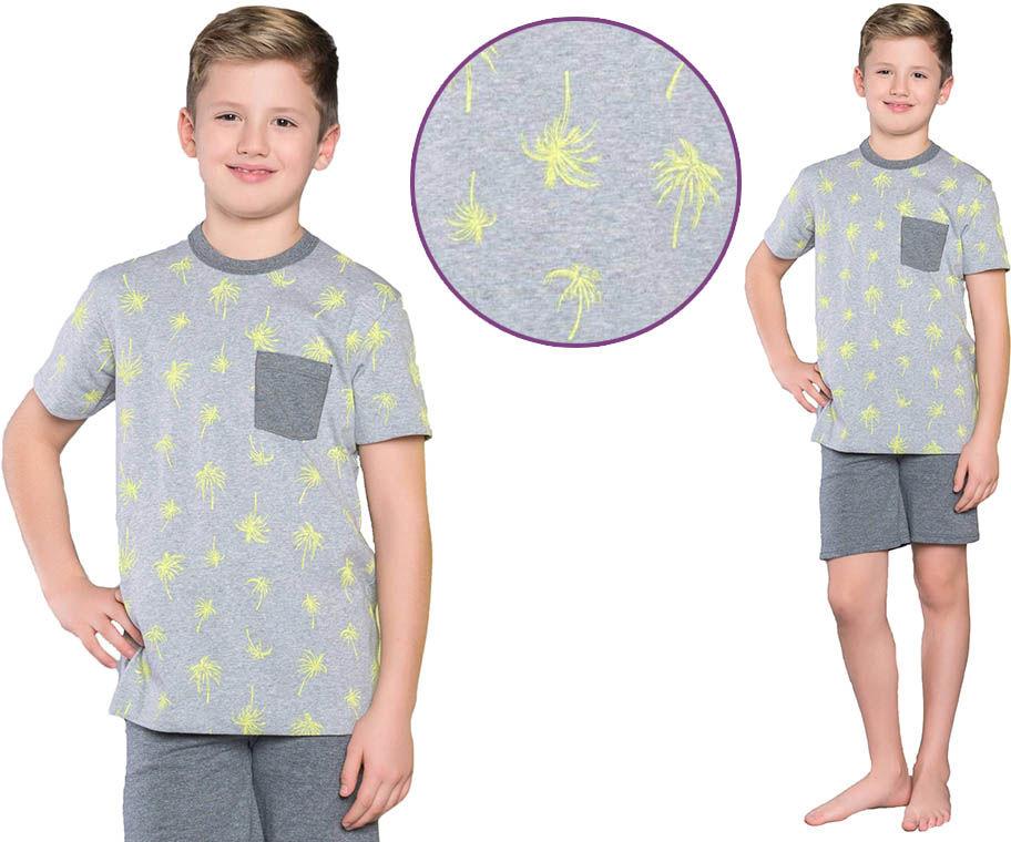 Piżama dziecięca MONSUN: szary
