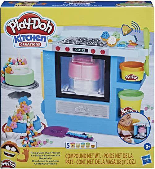 Zestaw do zabawy Kitchen Creations Magiczny Piec do Tortów z ciastoliną Play-Doh, dla dzieci w wieku od 3 lat, z 5 kolorami masy plastycznej, produkt nietoksyczny