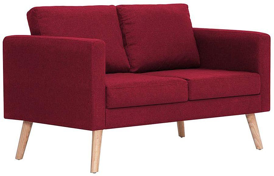 Dwuosobowa kanapa w kolorze czerwonego wina - Lavinia 2X