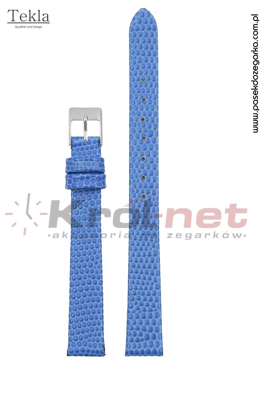 Pasek TK117NIE/14 - niebieski, imitacja jaszczurki