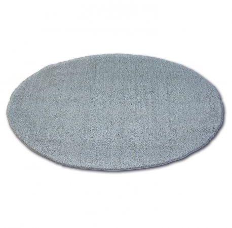 Dywan koło SHAGGY MICRO srebrny koło 60 cm