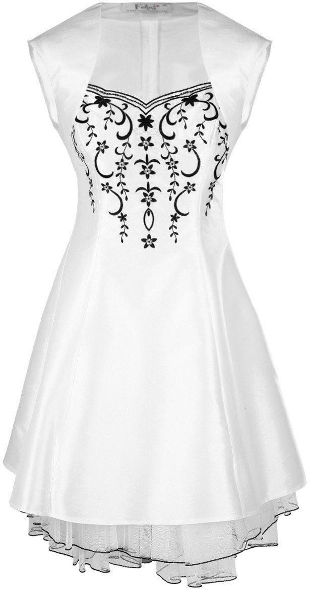 FSU731 Suknie wizytowe Sukienka BIAŁY