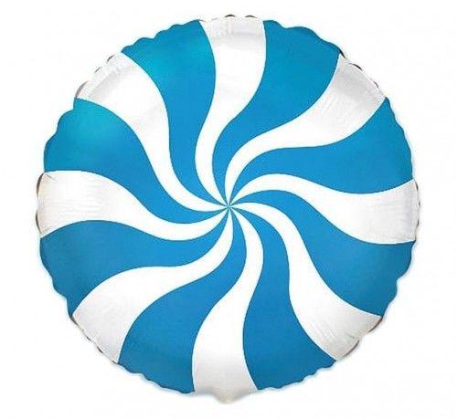 """Balon foliowy 18"""" FX Lizak, niebieski"""