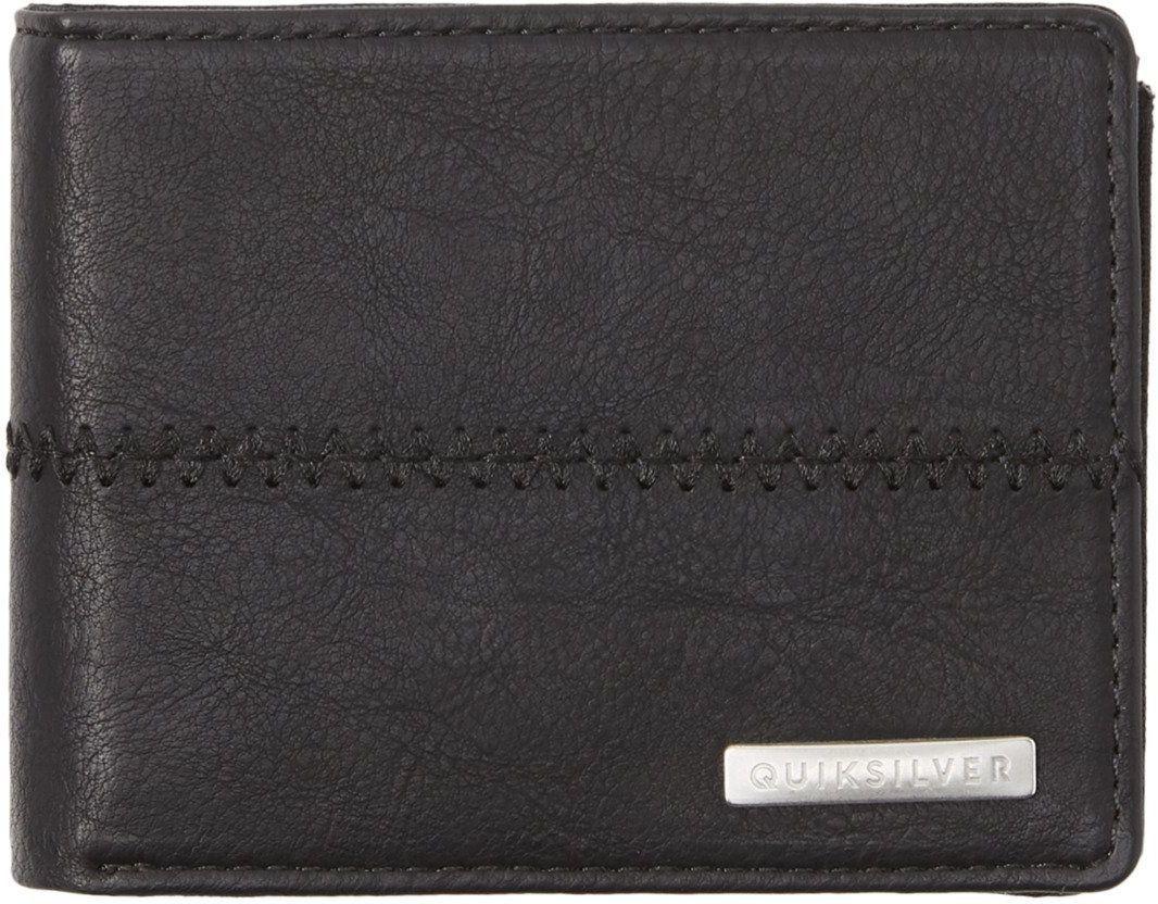 portfel męski QUIKSILVER STITCHY 3 WALLET Black Black - KVJ0