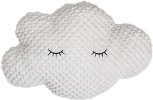 Bloomingville Poduszka w kształcie chmury, poliester, biała, 45 cm