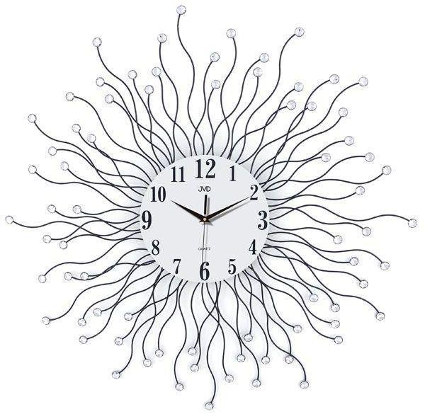 Zegar ścienny JVD HJ19 z kryształkami średnica 78 cm