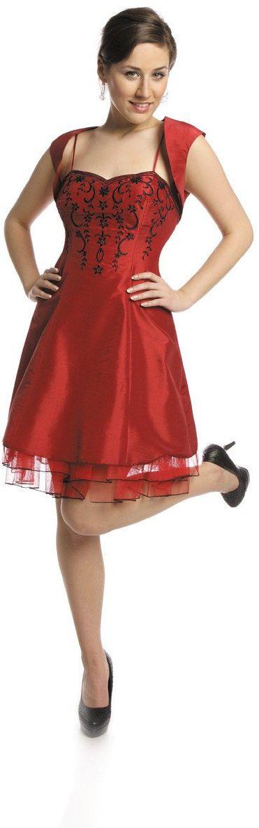 FSU731 Suknie wizytowe Sukienka CZERWONY MOCNY