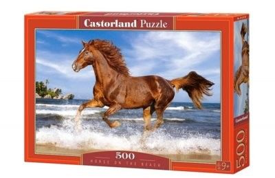 Puzzle Castorland 500 - Koń na plaży, Horse on the Beach