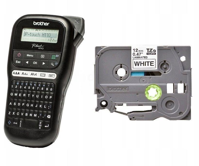 Drukarka etykiet Brother PT-H110 + taśma TZe-231 KUP z zamiennikami i oszczędzaj! - ZADZWOŃ 730 811 399