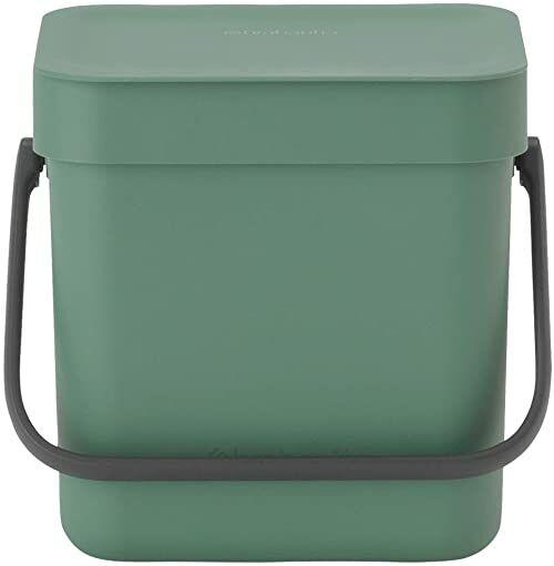 Brabantia Sort & Go wiadro bio, tworzywo sztuczne, zielony jodłowy, 3 l
