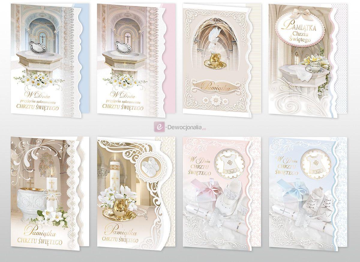 Karnet kartka z życzeniami na Chrzest Święty B6