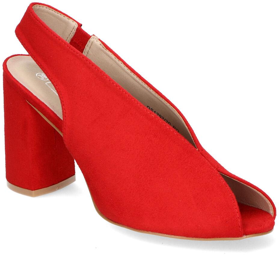 Sandały Filippo DS1292/20RD Czerwone zamsz