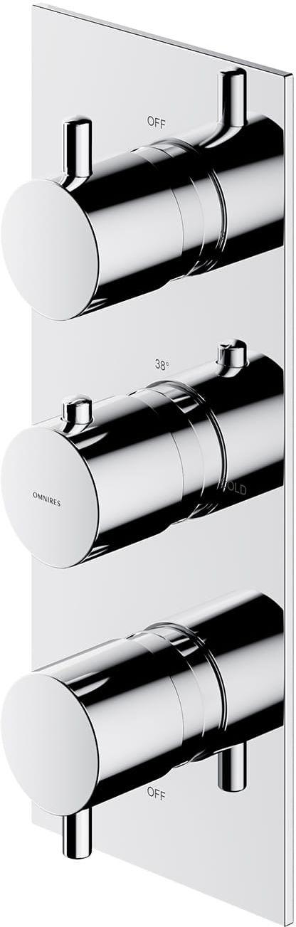 Omnires bateria prysznicowo-wannowa podtynkowa termostatyczna 3-wyjściowa chrom Y1238/KROCR wysyłka 24h
