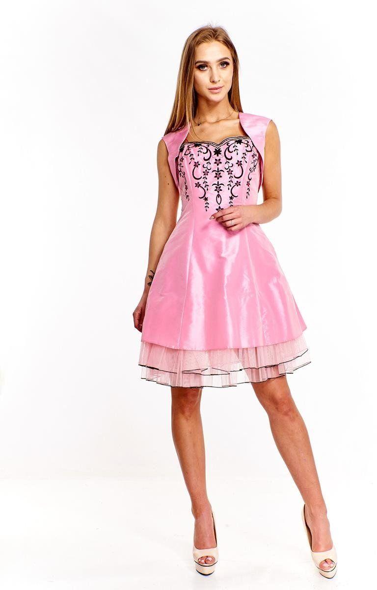 FSU731 Suknie wizytowe Sukienka RÓŻOWY
