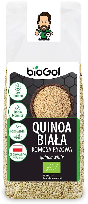 Quinoa biała (komosa ryżowa) bezglutenowa bio 250 g - biogol