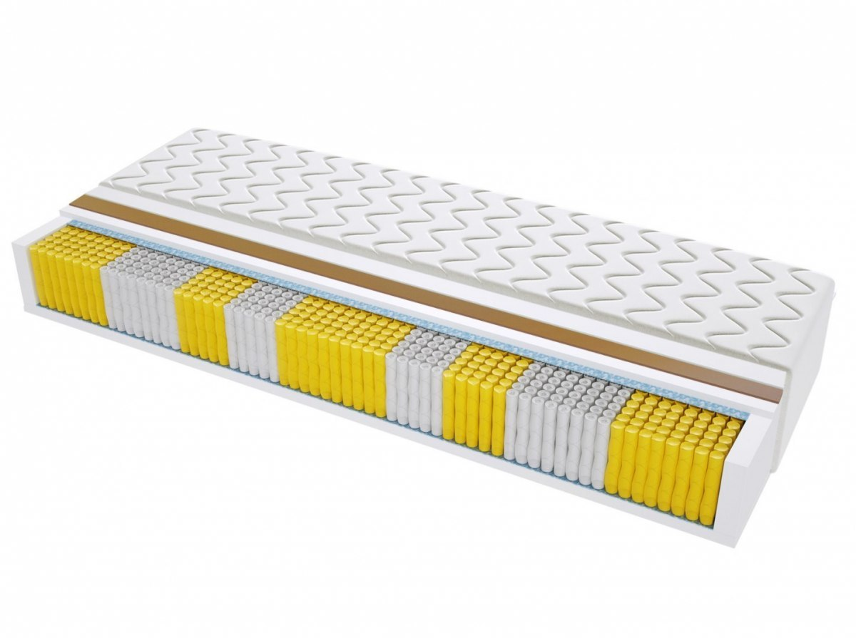 Materac kieszeniowy MEDIOLAN MULTIPOCKET 80x185 cm Średnio / twardy Kokos dwustronny