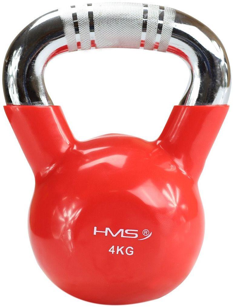 Hantla winylowa żeliwna kettlebell KTC04 4 kg - HMS