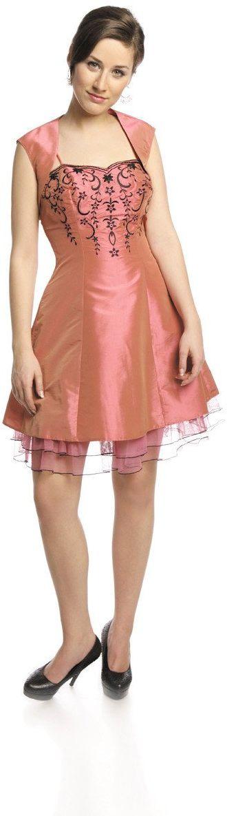FSU731 Suknie wizytowe Sukienka RÓŻ ŚREDNI