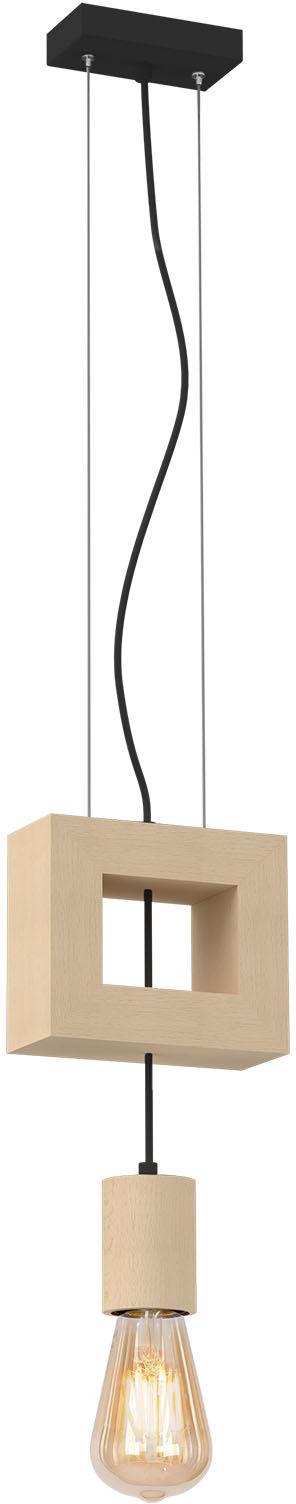 Milagro FANO MLP5414 lampa wisząca geometryczna kwadrat drewno 1xE27 14cm