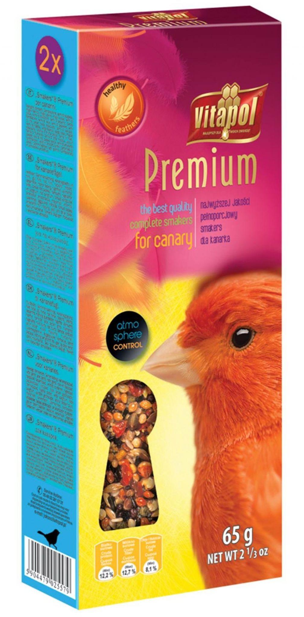 VITAPOL - Smakers premium dla kanarka 65g
