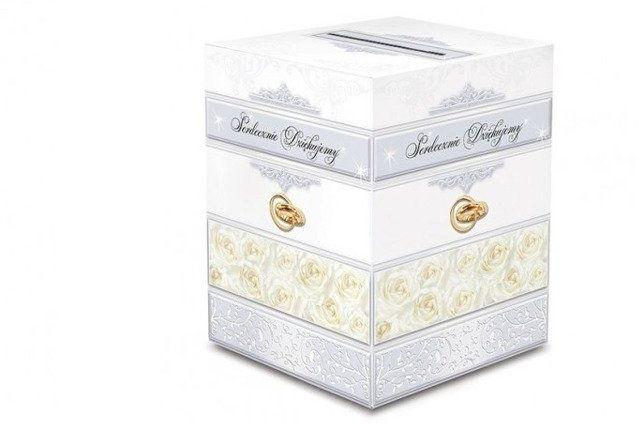 Pudełko weselne na koperty z życzeniami, prezentami 24x24x30cm KP1 PUDKB