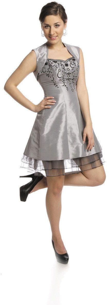 FSU731 Suknie wizytowe Sukienka SZARY JASNY