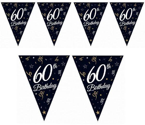 Girlanda urodzinowa flagi 60th Birthday 28x270cm GP-GF60