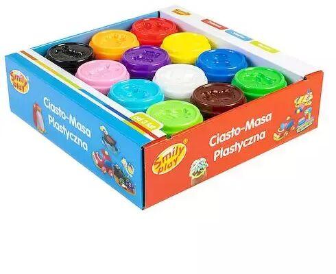 Ciasto masa plastyczna 12 słoiczków - SMILY PLAY
