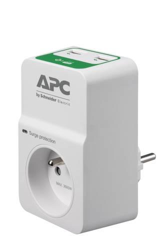 APC Essential SurgeArrest 1 Outlet 230V, 2 Port USB Charger, France