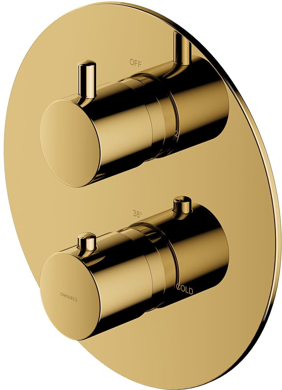 Omnires termostatyczna bateria prysznicowo-wannowa podtynkowa, złota Y1236ROGL wysyłka 24h