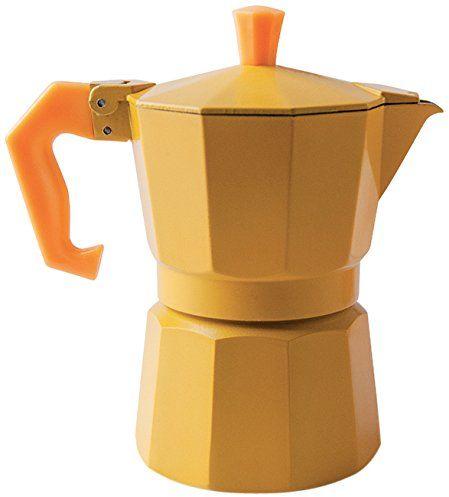 "Excèlsa ""Chicco Color"" dzbanek do espresso, na 3 filiżanki, żółty"