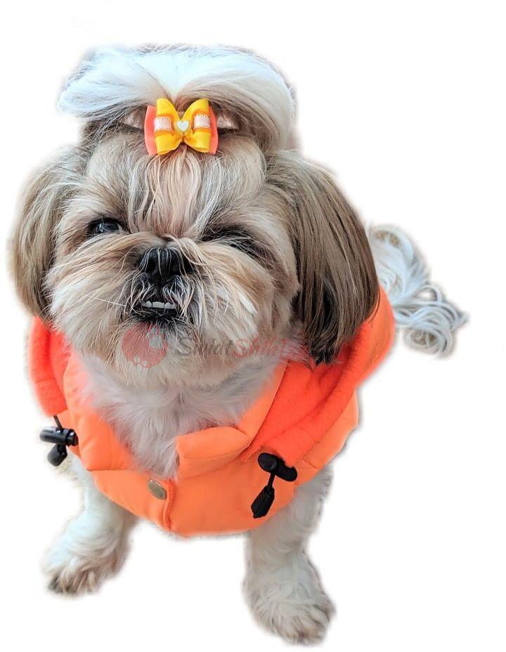 Ręcznie szyta kurtka sportowa pomarańczowa