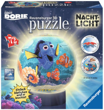 Puzzle Ravensburger 3D 72 Lampka - Gdzie jest Dory, Finding Dory