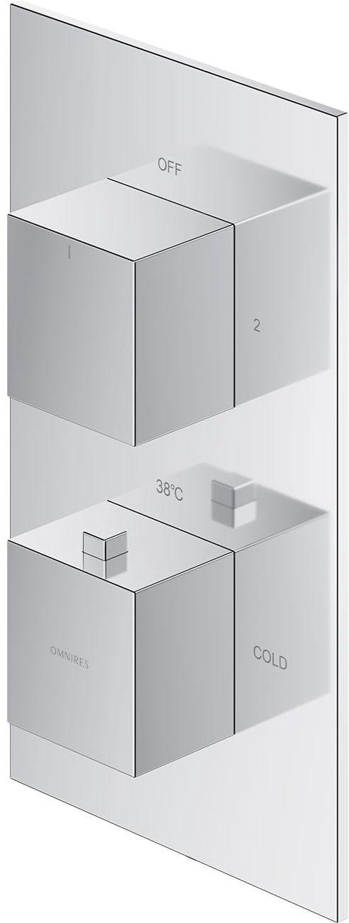Omnires termostatyczna bateria prysznicowo-wannowa podtynkowa Fresh, chrom FR7136ROCR