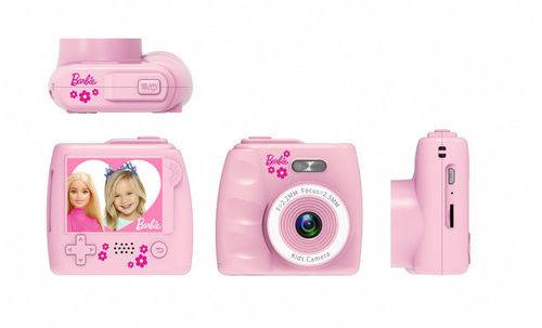 Cyfrowy aparat fotograficzny żółty Barbie