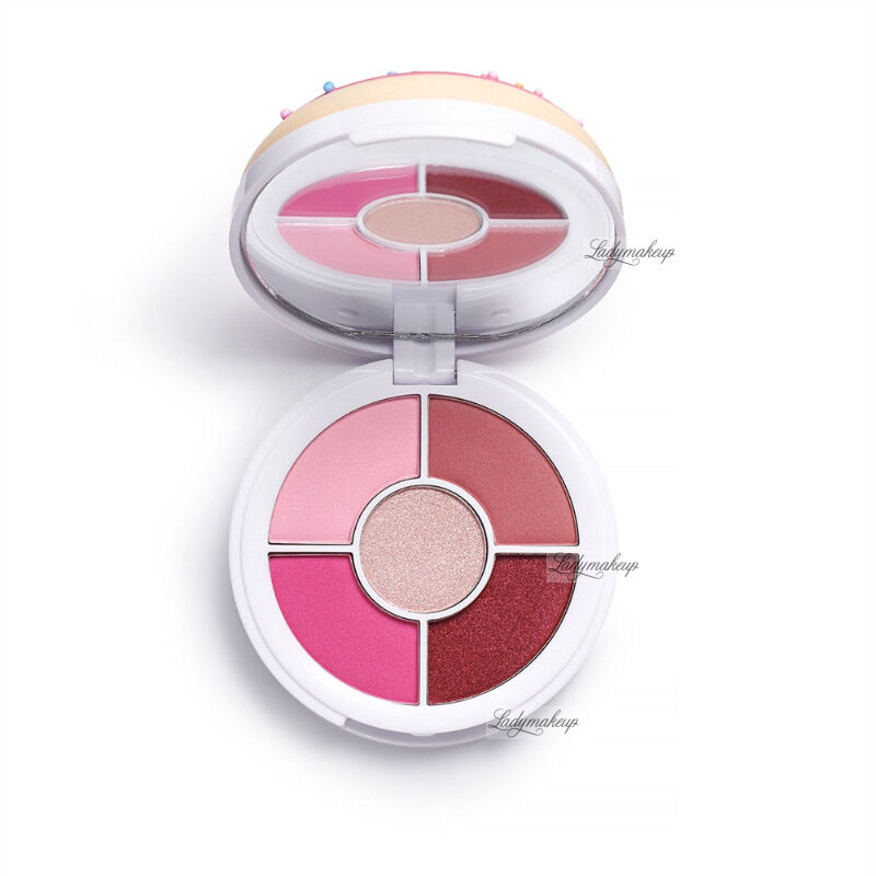 I HEART REVOLUTION - Donuts Eyeshadow Palette - Paleta 5 cieni do powiek - Raspberry Icing