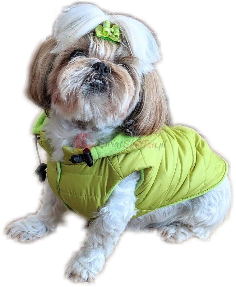Ręcznie szyta kurtka sportowa neo zielona