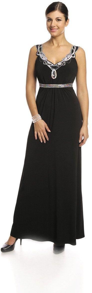 FSU732 Suknie wizytowe Sukienka CZARNY