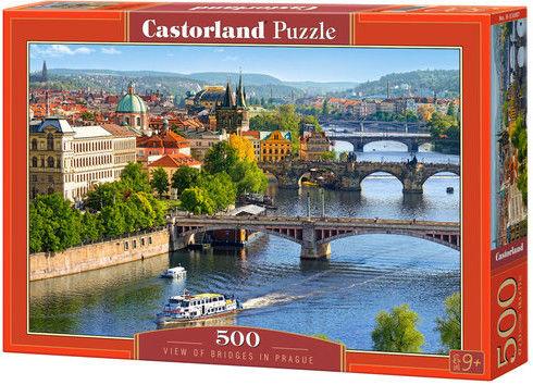 Puzzle Castor 500 - Widok na mosty Pragi, View of Bridges in Prague