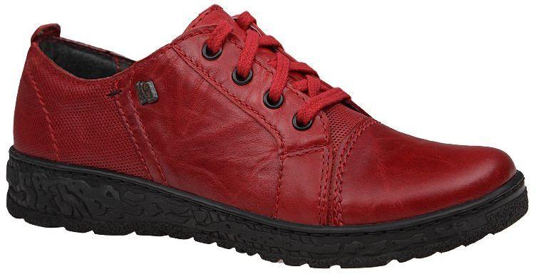 Półbuty KACPER 2-6319-729P+729 Czerwone damskie - Czerwony