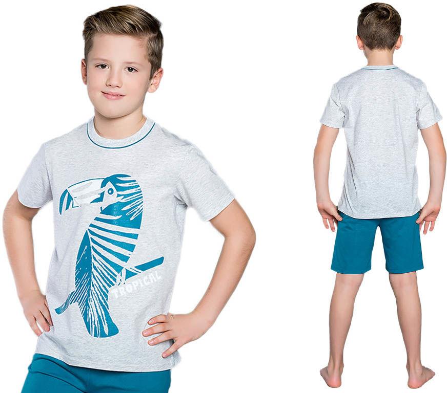 Piżama dziecięca TROPIC: szary